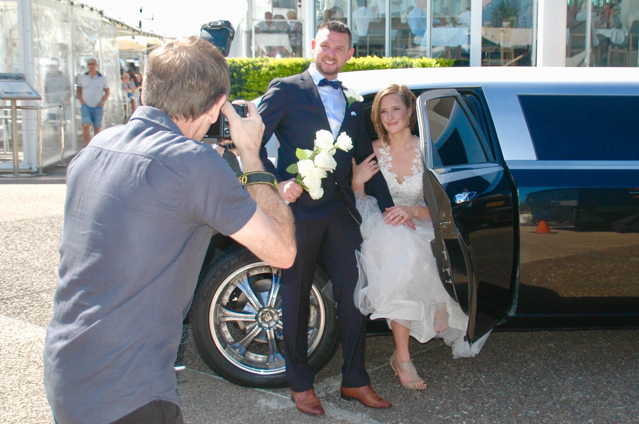 professional wedding photographer Gold coast cruises deluxe wedding package