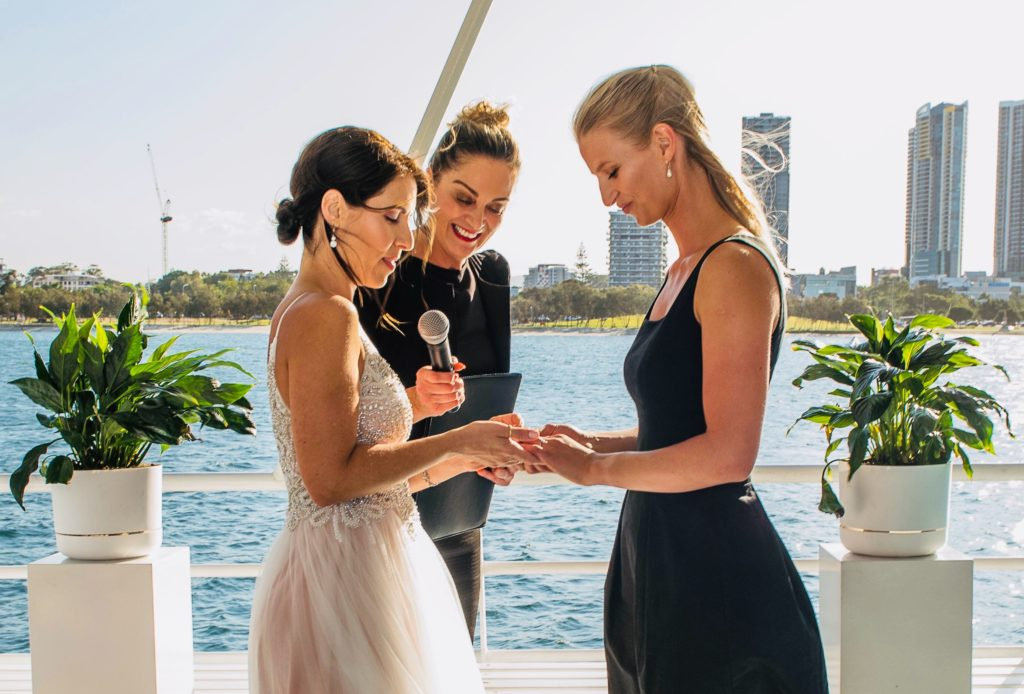 Wedding Ceremony officiated by a Marriage Celebrant Deluxe wedding package