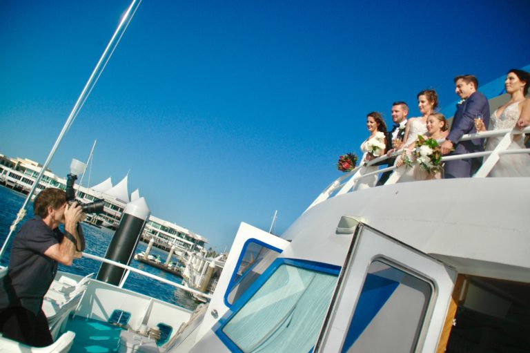 professional wedding photographer Gold coast cruises Pop-up wedding package