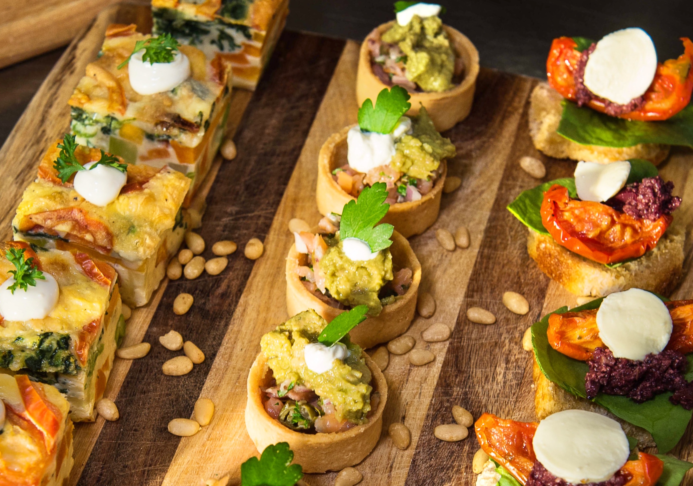 Deluxe wedding canapes 3 Course Plated or Buffet Meal