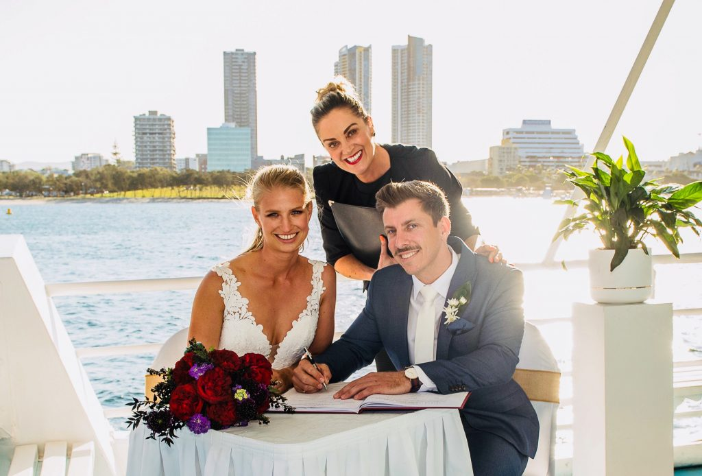 Wedding Ceremony officiated by a Marriage Celebrant Pop-up wedding package