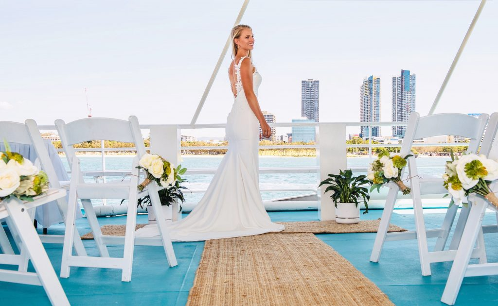 Gold Coast Cruises pop-up wedding event styling