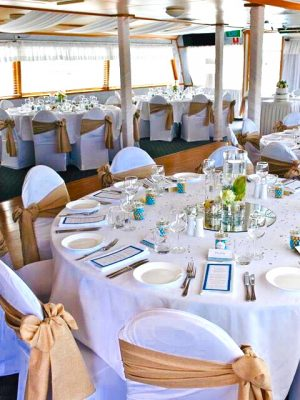 gold coast cruises the lady event styling